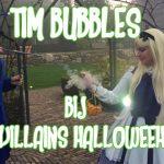 Tim Bubbles bij little villains Halloween feest
